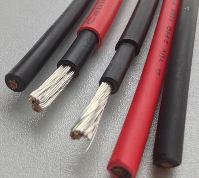 TUV认证光伏电缆,UL认证光伏电缆,日标认证光伏电缆,太阳能电缆, PV1-F  1*2.5mm2   PV1-F  1*4mm2